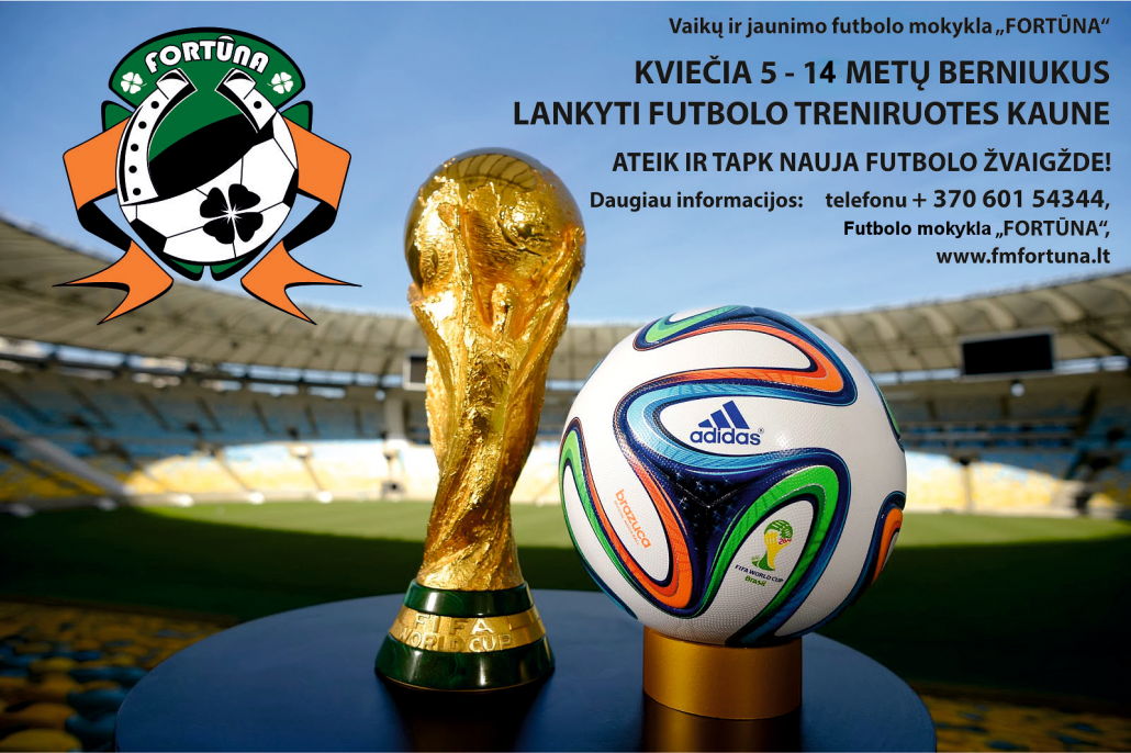 "Futbolo mokykla ""Fortūna"" kviečia lankyti futbolo treniruotes Kaune"