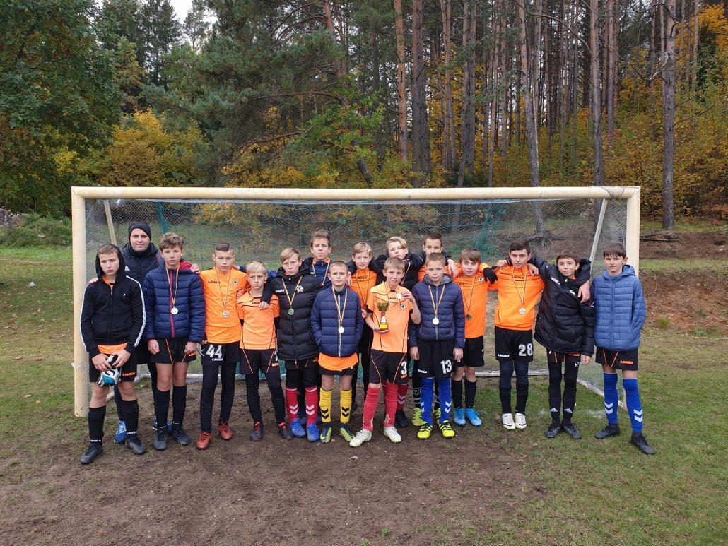 """Futbolo mokyklos """"Fortūna"""" komanda turnyre """"Rudens Taurė"""" užėmė antrąją vietą"""
