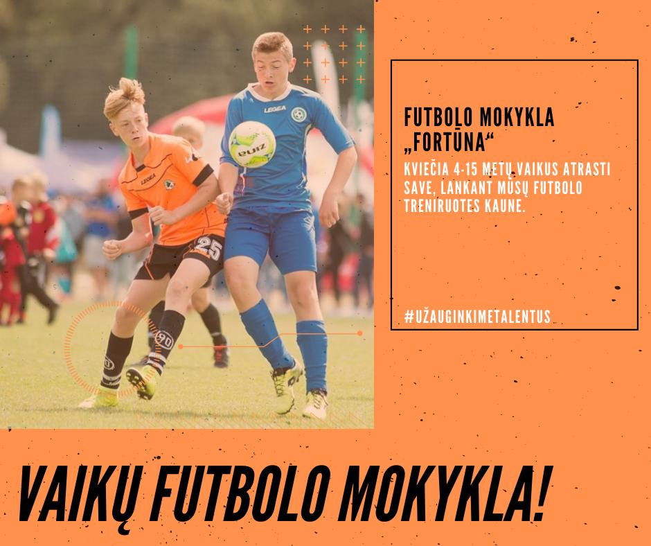 Kviečiame 4-15 metų vaikus į futbolo treniruotes Kaune!